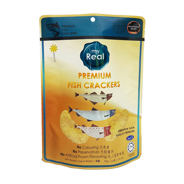 50g myReal Premium Fish Crackers - Lumut Crackers