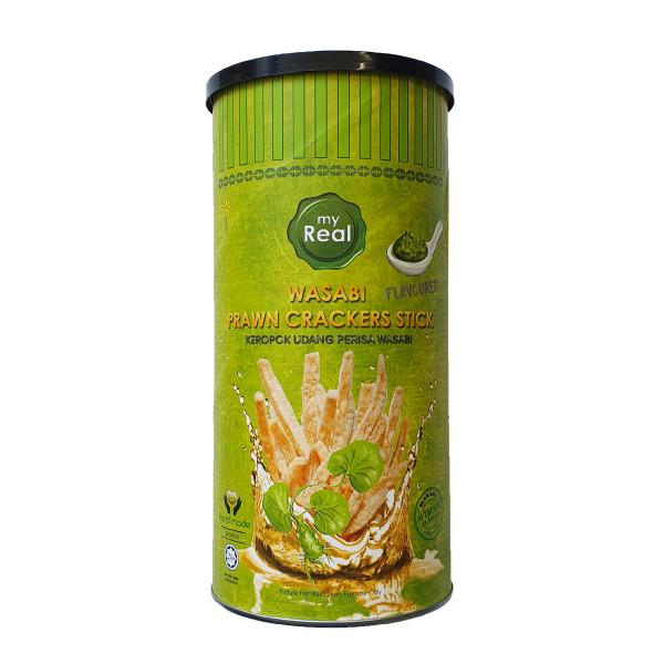 100g myReal Wasabi Prawn Crackers Stick - Lumut Crackers