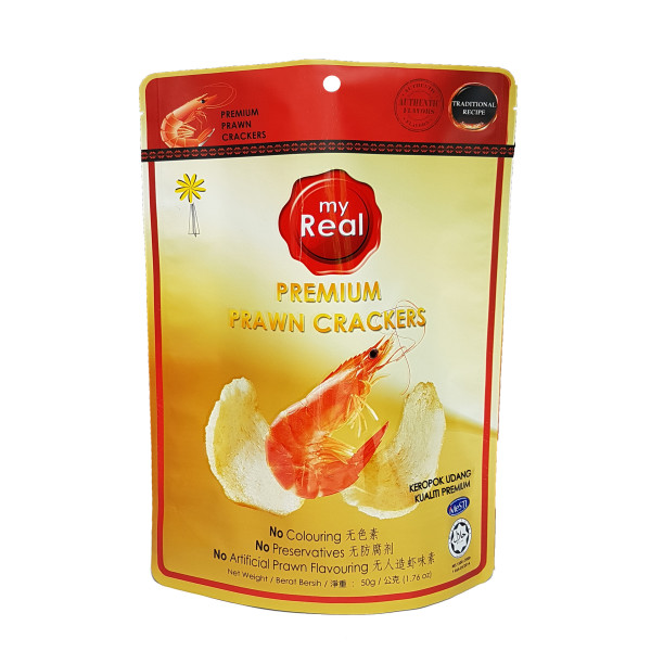 50g myReal Premium Prawn Crackers - Lumut Crackers