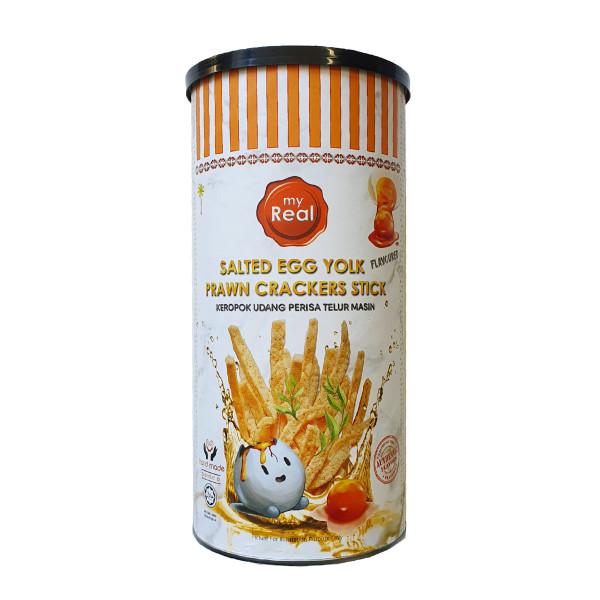 100g myReal Salted Egg Yolk Prawn Crackers Stick - Lumut Crackers