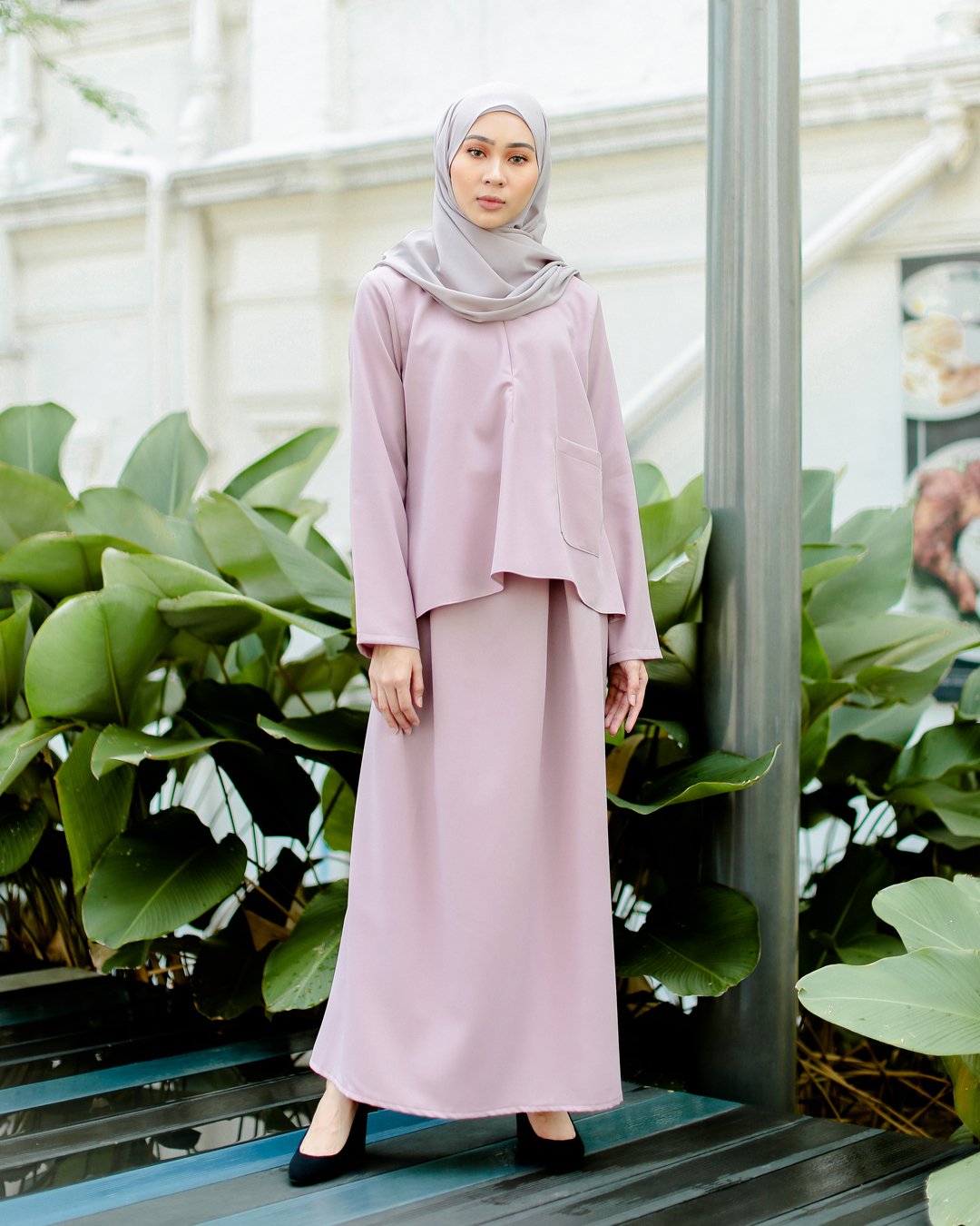 POLEA SKIRT SET (LAVENDER PURPLE)