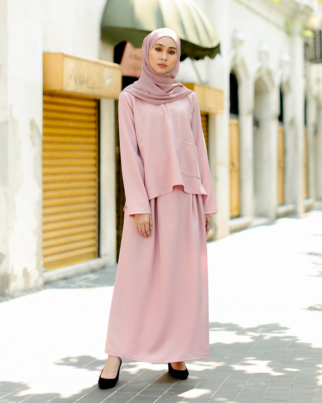 POLEA SKIRT SET (TULIP PINK)