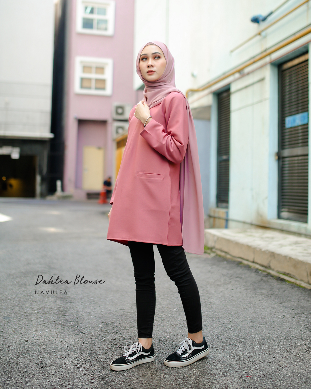 DAHLEA BLOUSE (DUSTY PINK)