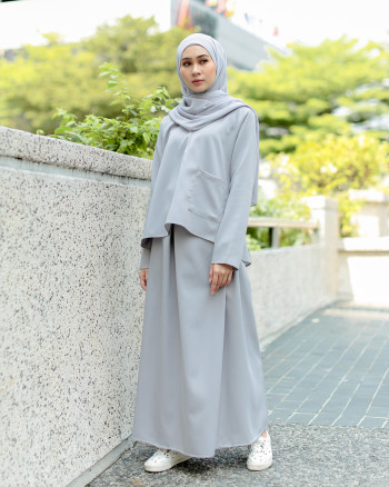 POLEA SKIRT SET (PEWTER GREY)