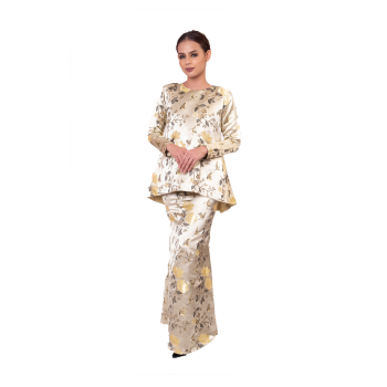 Fillea Brocade Kurung (OFF WHITE)