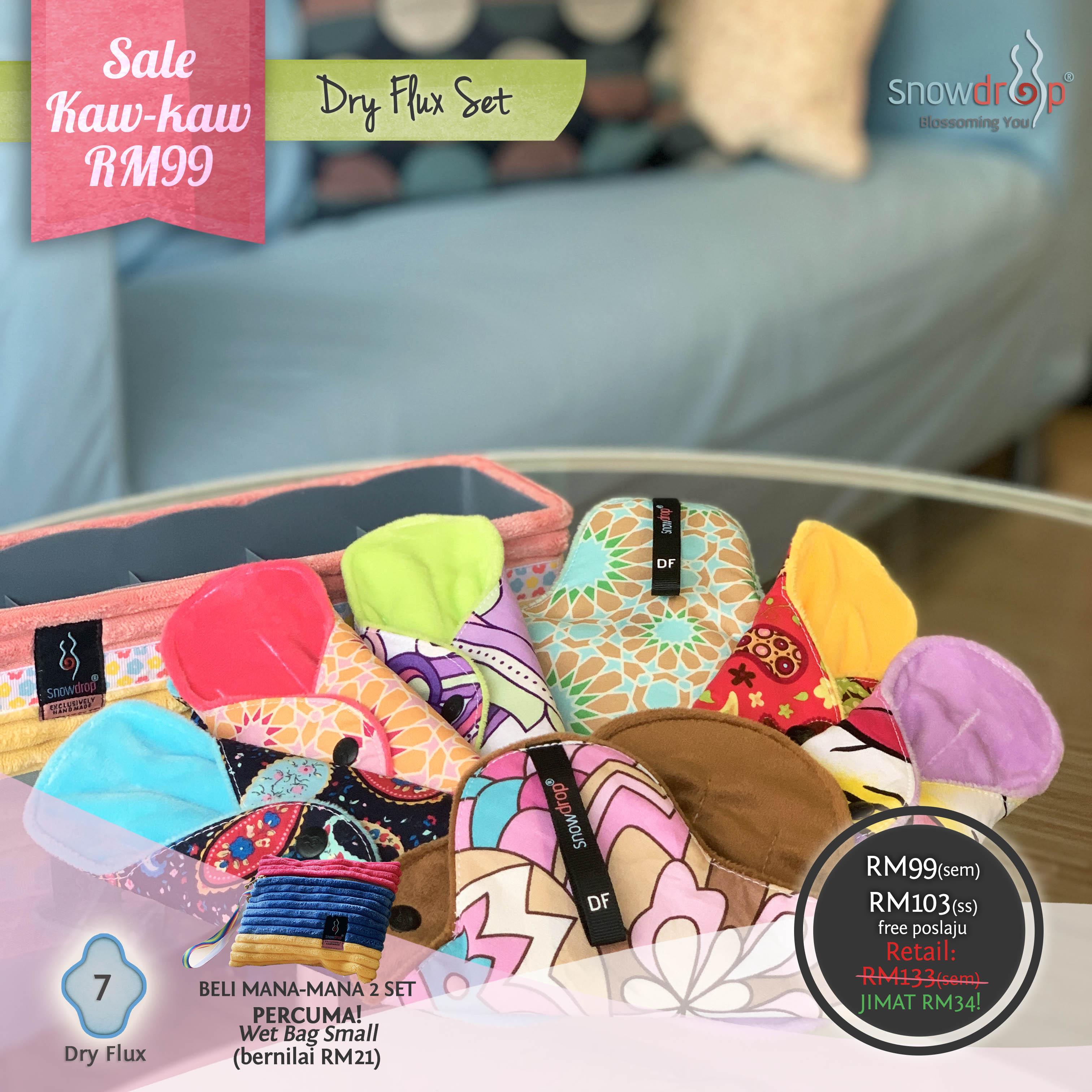 Pakej Sale RM99 - Dry Flux Set