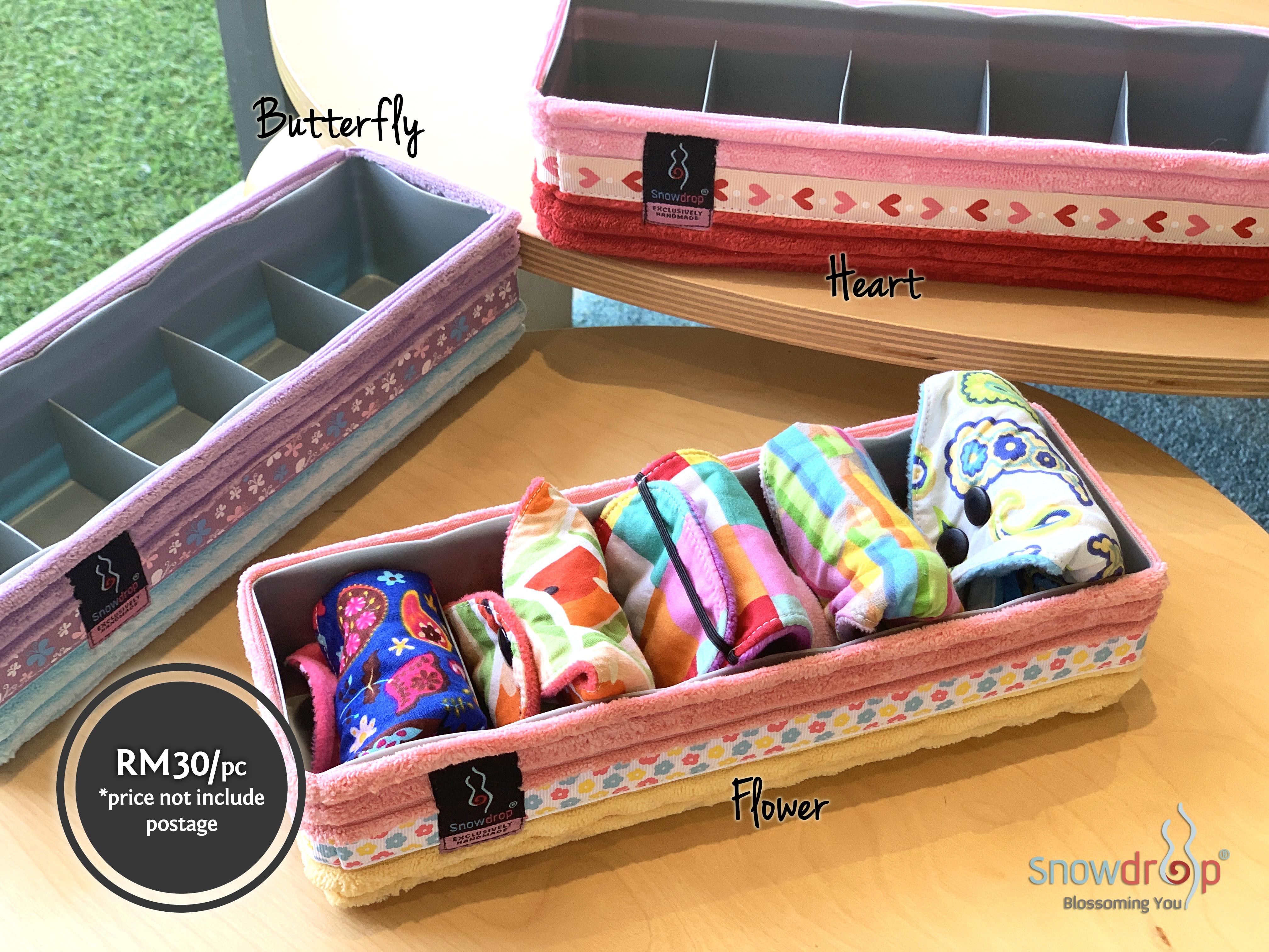 Snowdrop Cloth Pad & Liner Organizer