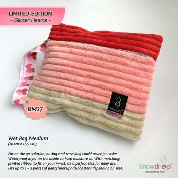 Wet Bag Limited Edition Glitter Hearts - Medium