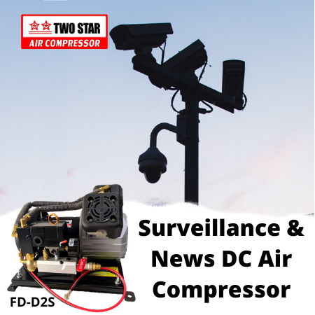 Two Star FD-D2S-DC24V 24V DC Oil Free On Board Air Compressor