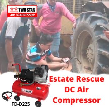 Two Star FD-D225-DC12V 12V Oil Free DC Twin Piston Air Compressor