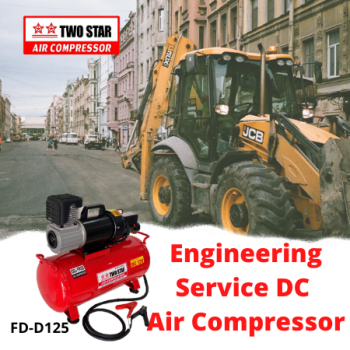 Two Star 12V DC Oil Free Air Compressor with 25 liter tank