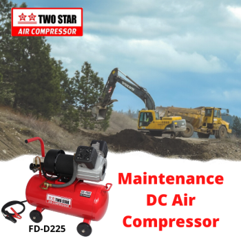 Two Star FD-D225-DC24V 24V Oil Free DC Twin Piston Air Compressor