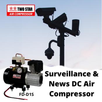 Two Star FD-D1S-DC48V Direct Mount 48V Oil Free DC Air Compressor