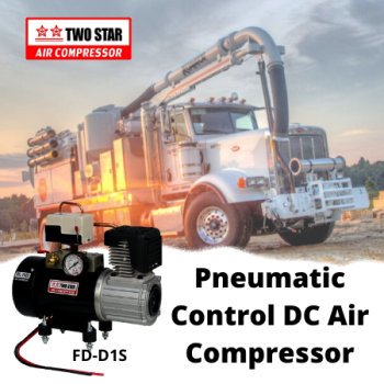 Two Star FD-D1S-DC24V Direct Mount 24V Oil Free DC Air Compressor