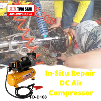 Two Star FD-D108-DC12V 12V DC Oil Free Air Compressor with 8 lite