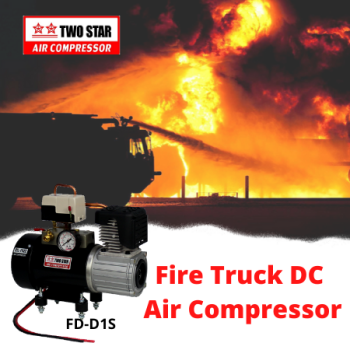 Two Star FD-D1S-DC12V Direct Mount 12V Oil Free DC Air Compressor