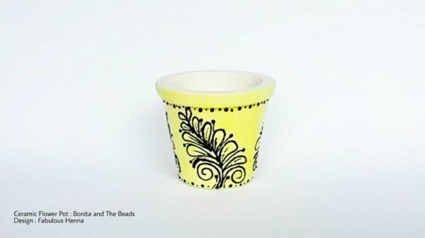 Ceramic Flower Mini Pot - Manik Heritage