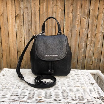f5e2a06ad6ab  READY STOCK  Michael Kors Riley Small Flap Pack in Black