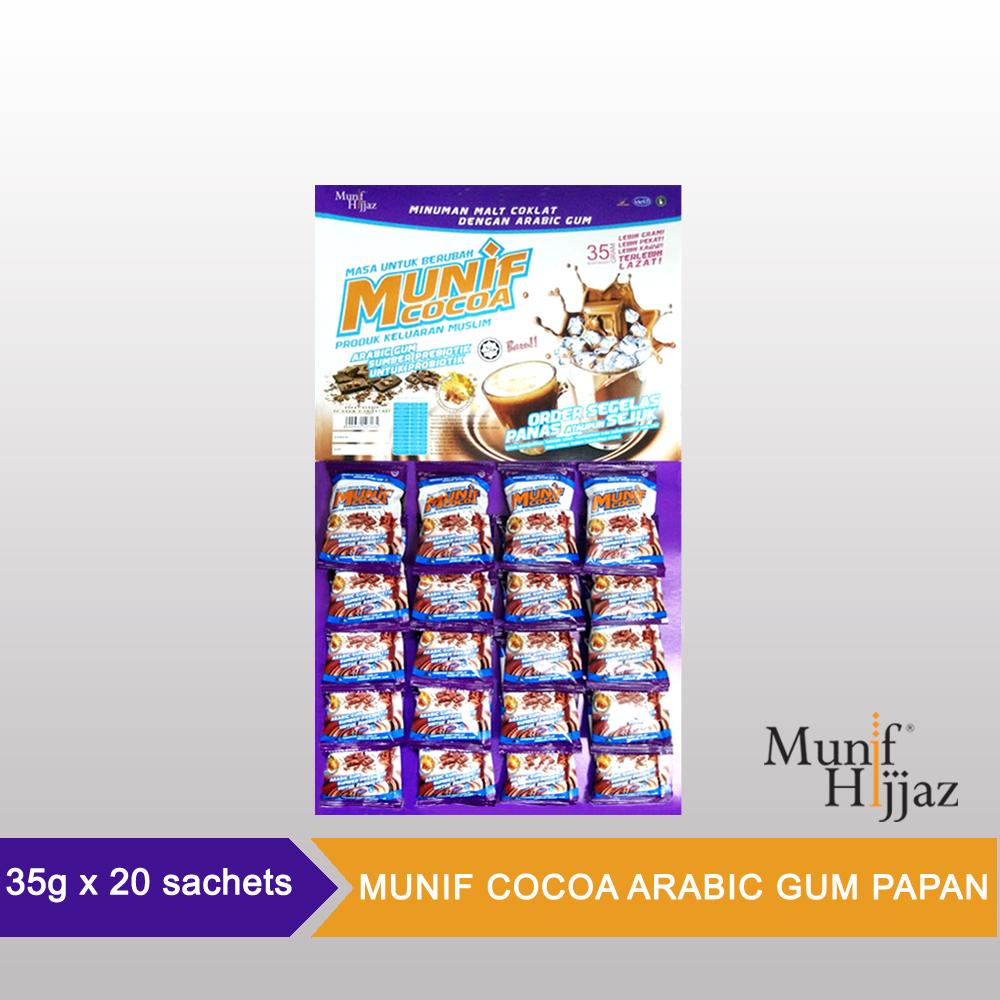 Munif Cocoa Arabic Gum Papan