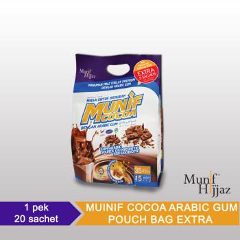 Munif Cocoa Arabic Gum Pouch Bag Xtra
