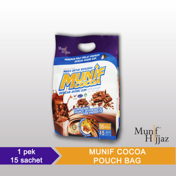 Munif Cocoa Arabic Gum Pouch Bag