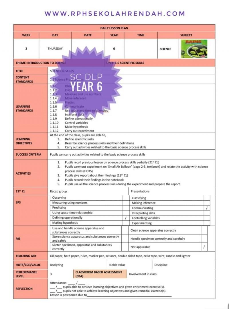 RPH SCIENCE YEAR 6 (DLP)  2021