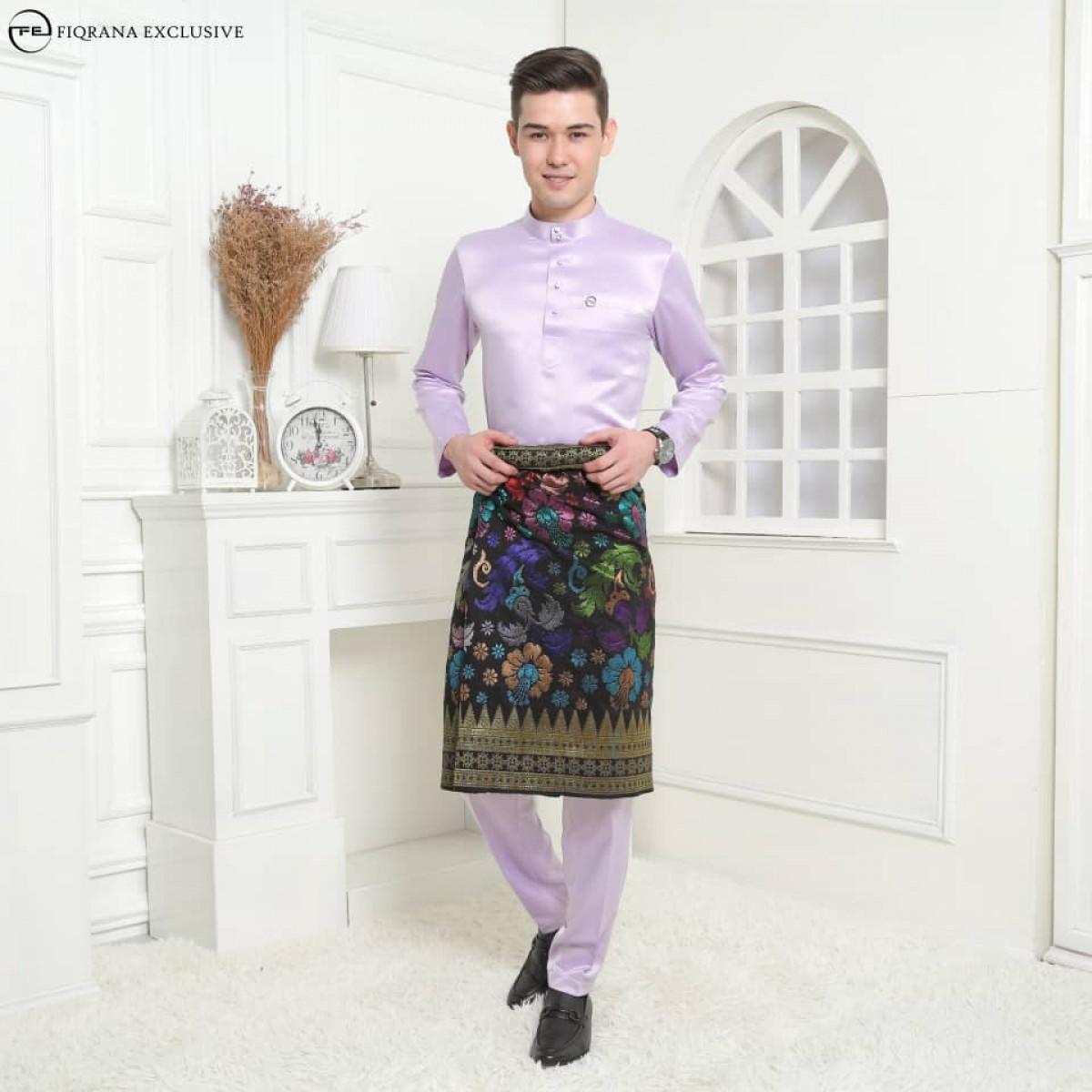 Baju Melayu Slimfit Lilac Purple - Fiqrana Exclusive