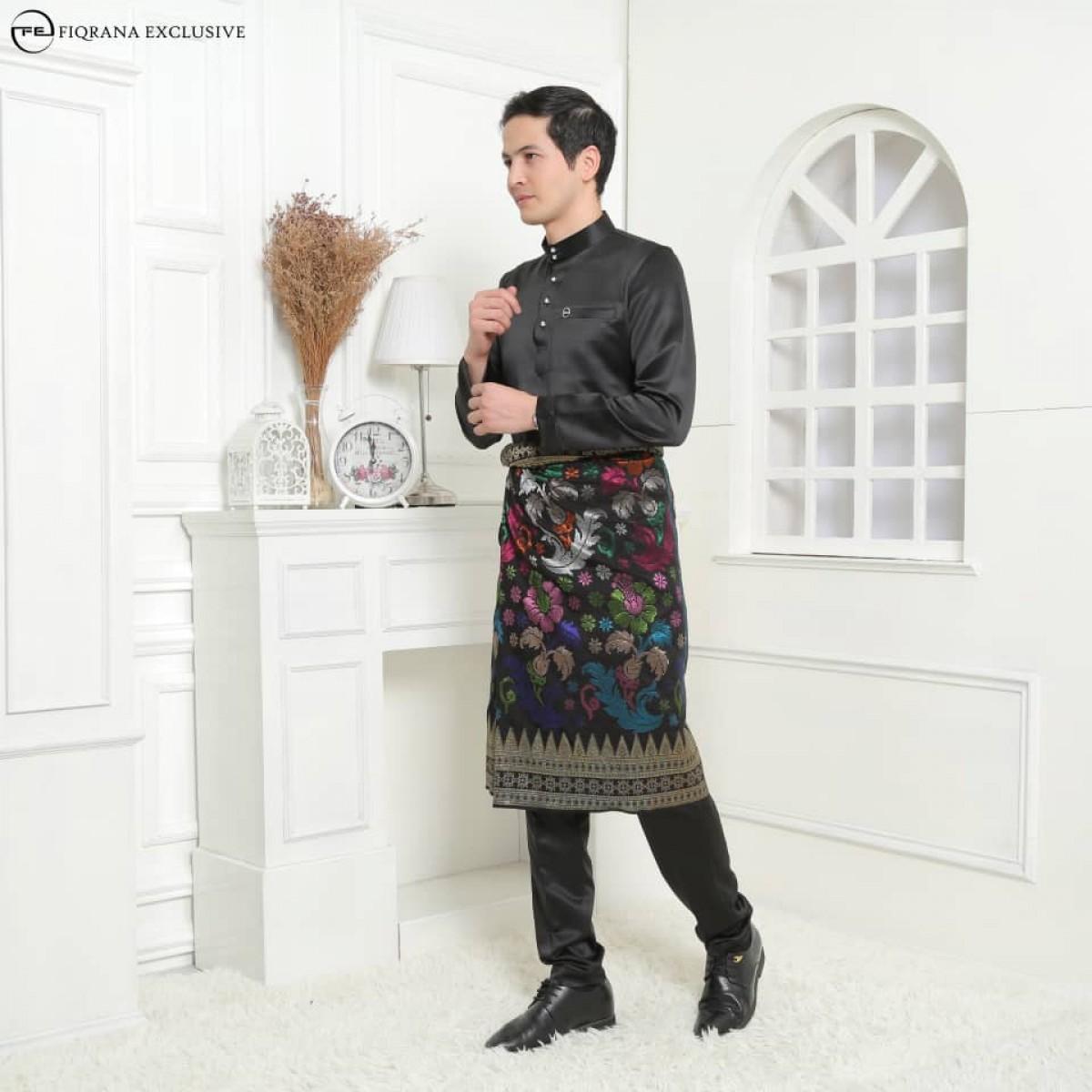 Baju Melayu Slimfit Black - Fiqrana Exclusive