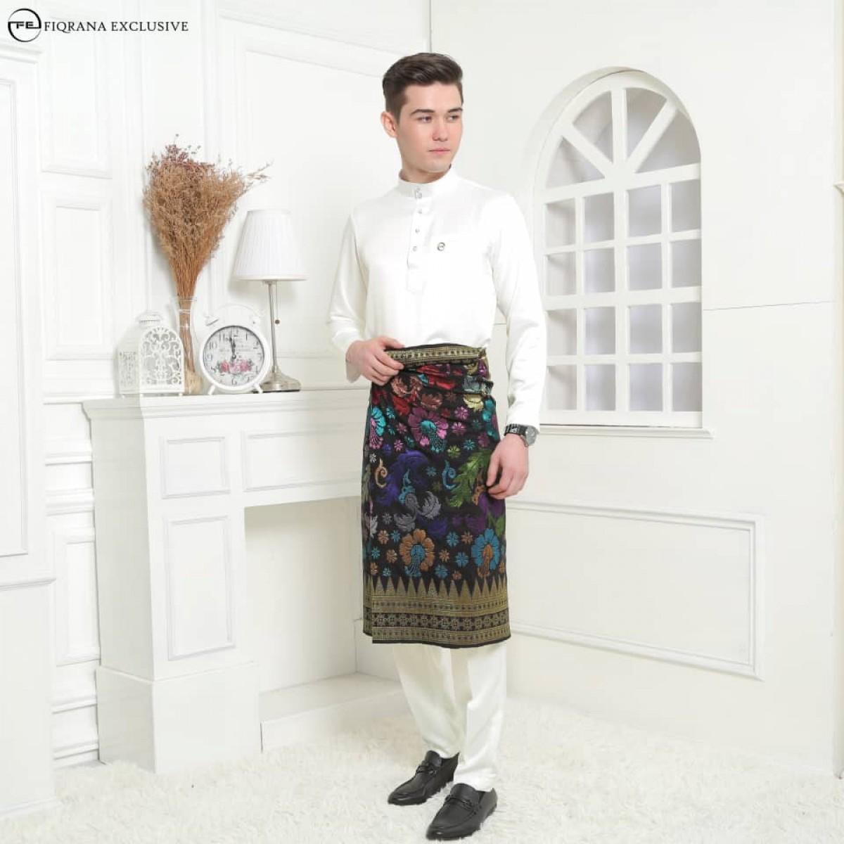 Baju Melayu Slimfit Offwhite - Fiqrana Exclusive