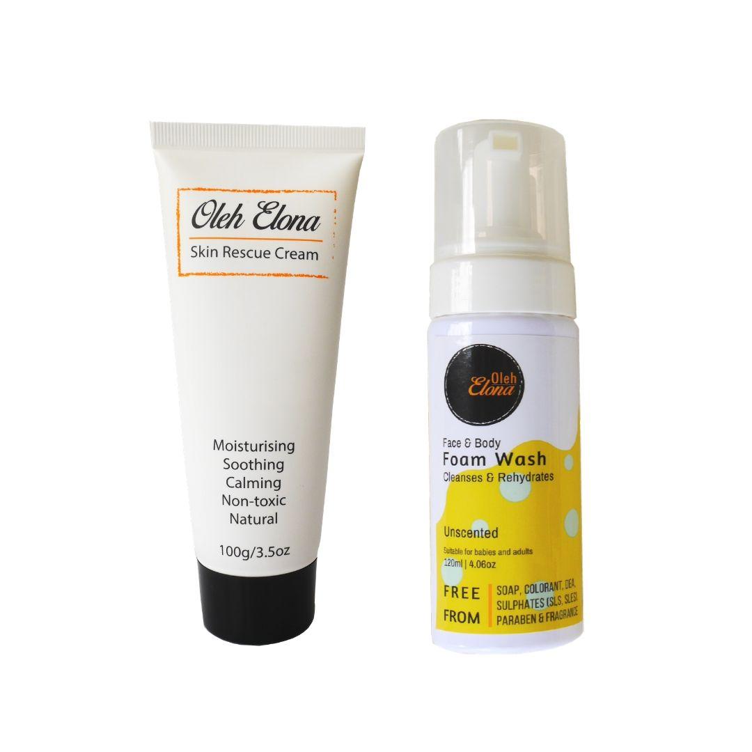 Oleh Elona Skin Rescue Cream (100g) plus Natural Face & Body Wash