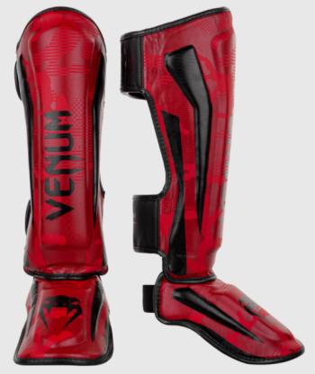 VENUM ELITE SHIN GUARDS - RED CAMO
