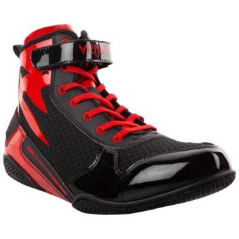 VENUM GIANT LOW BOXING SHOE - BLACK/RED