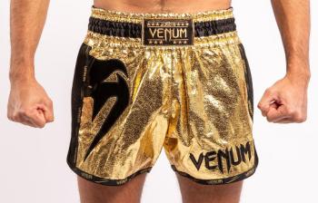 VENUM GIANT FOIL MUAY THAI SHORTS - GOLD/BLACK