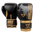 RINGHORNS CHARGER MX BOXING GLOVES - BLACK/GOLD - Potosan Corner Proshop