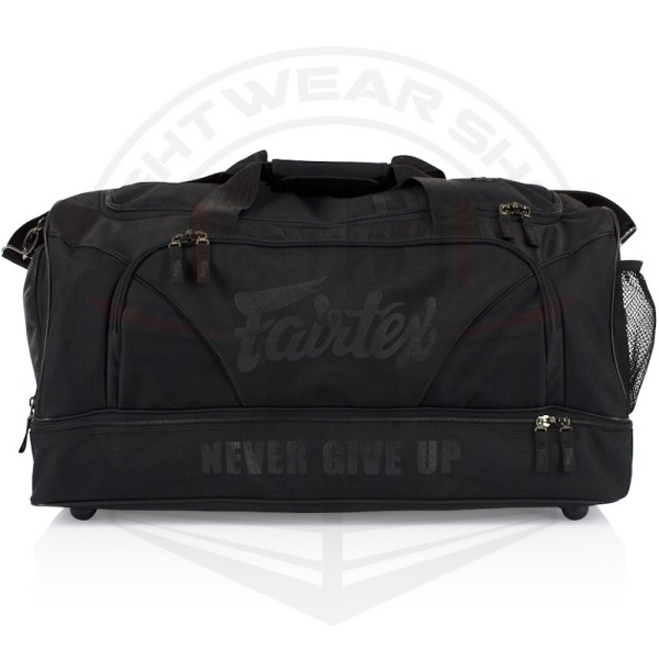 FAIRTEX BLACK/BLACK GYM BAG (BAG2) - BLACK/BLACK - Potosan Corner Proshop