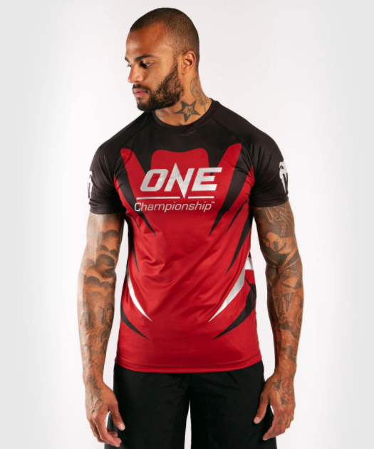 VENUM X ONE FC DRY TECH T-SHIRT - RED - Potosan Corner Proshop