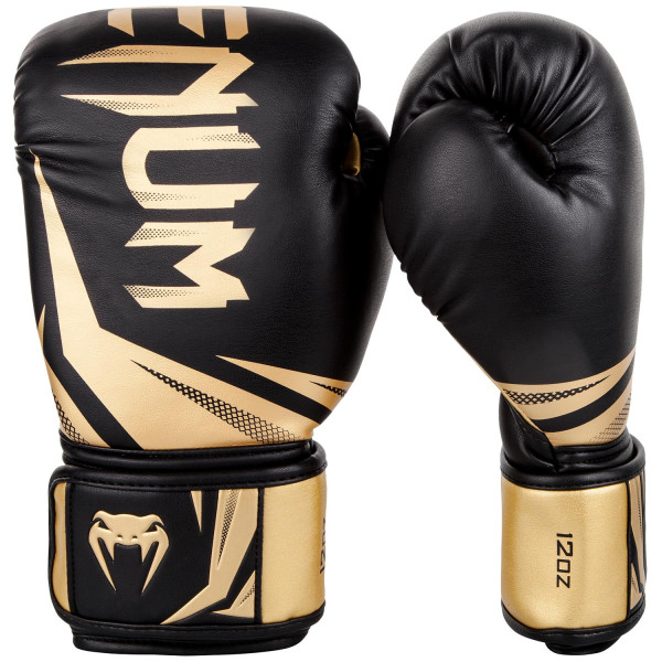 VENUM CHALLENGER 3.0 BOXING GLOVES - BLACK/GOLD - Potosan Corner Proshop