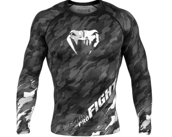 VENUM TECMO RASHGUARD - LONG SLEEVES - DARK GREY - Potosan Corner Proshop