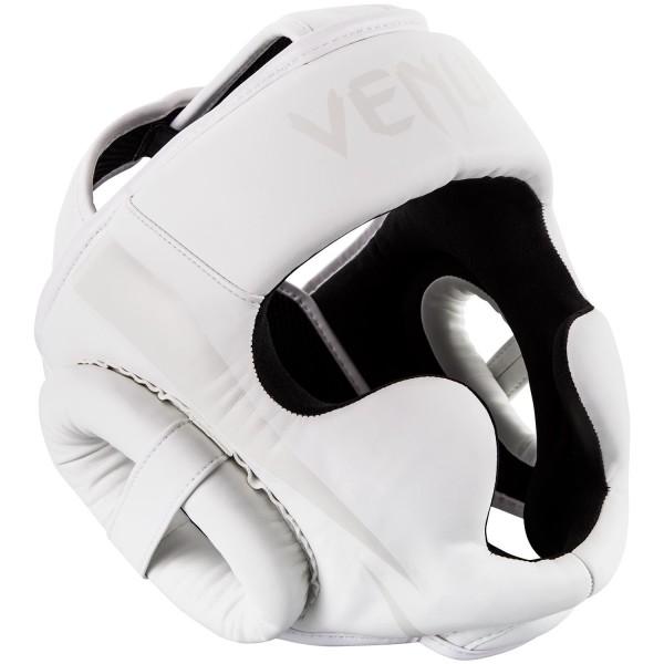 VENUM ELITE HEADGEAR - WHITE/WHITE - Potosan Corner Proshop