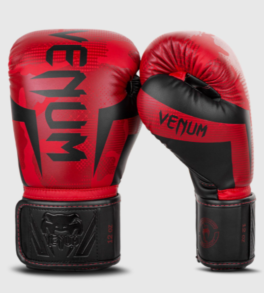VENUM ELITE BOXING GLOVES - RED CAMO - Potosan Corner Proshop
