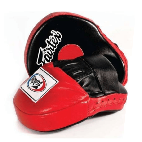 FAIRTEX FMV9 FOCUS MITTS - RED/BLACK - Potosan Corner Proshop