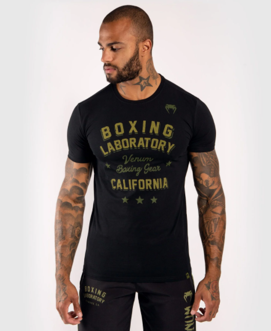 VENUM BOXING LAB T-SHIRT - BLACK/GREEN - Potosan Corner Proshop