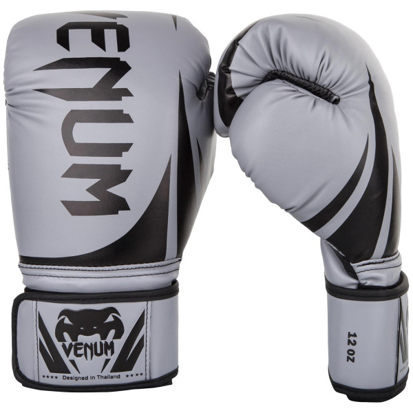 VENUM CHALLENGER 2.0 BOXING GLOVES GREY / BLACK - Potosan Corner Proshop