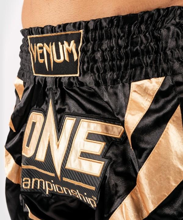 VENUM X ONE FC MUAY THAI SHORTS - BLACK/GOLD - Potosan Corner Proshop