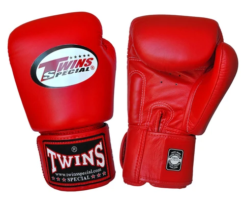 TWINS SPECIAL BOXING GLOVES - PREMIUM LEATHER - RED - Potosan Corner Proshop
