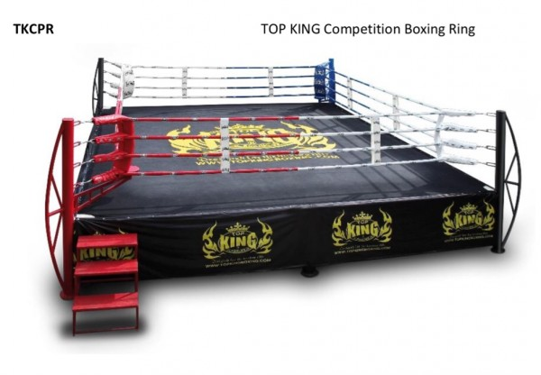 TOP KING COMPETITION BOXING RING - 7x7m - Potosan Corner Proshop