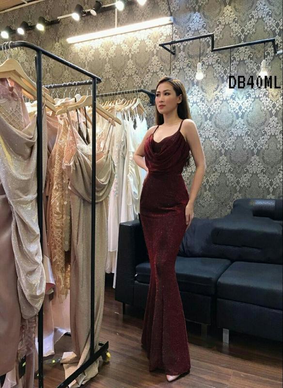 Glitter Red Maxi Bodycon Dress