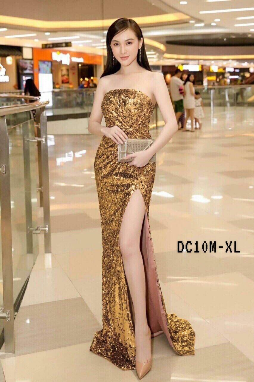 Gold Elegant Glitter Dress