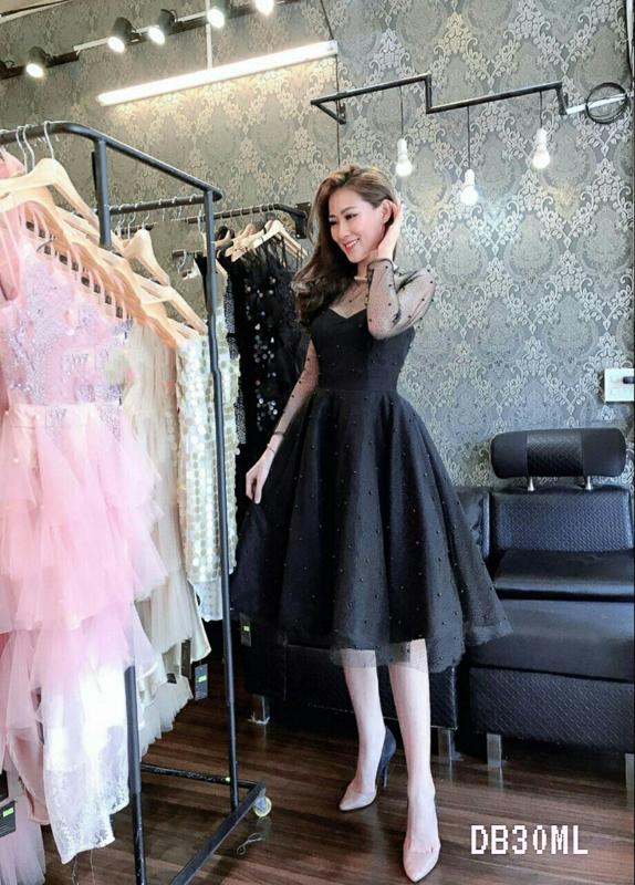 Black Lacey White Off Shoulder Backless Midi Dress