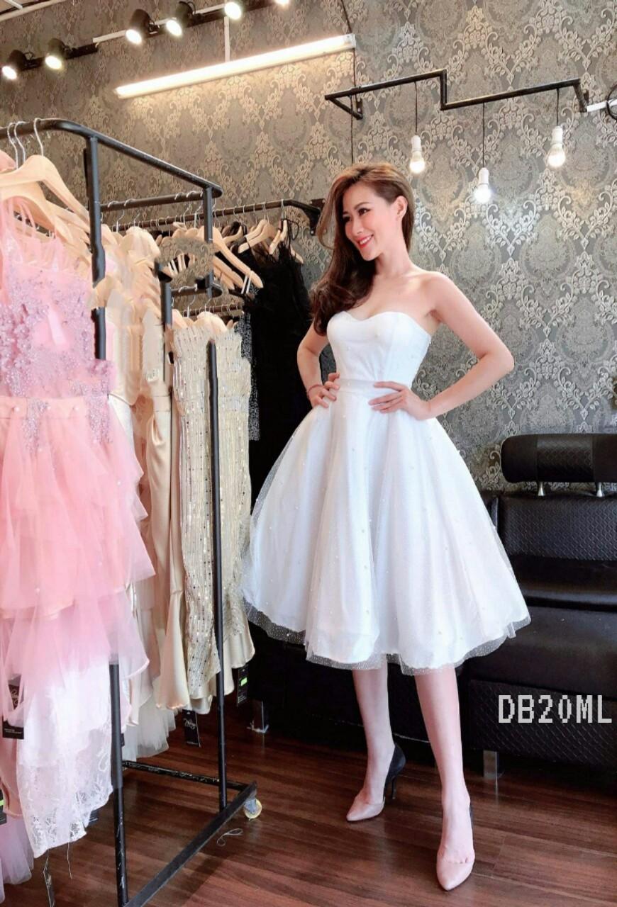 White Off Shoulder Backless Midi Dress (Premium Dress)